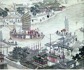 运河的繁华景象