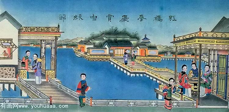 和中秋节有关的杨柳青年画