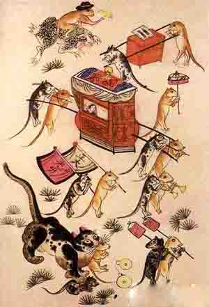 绵竹的年画老鼠娶亲