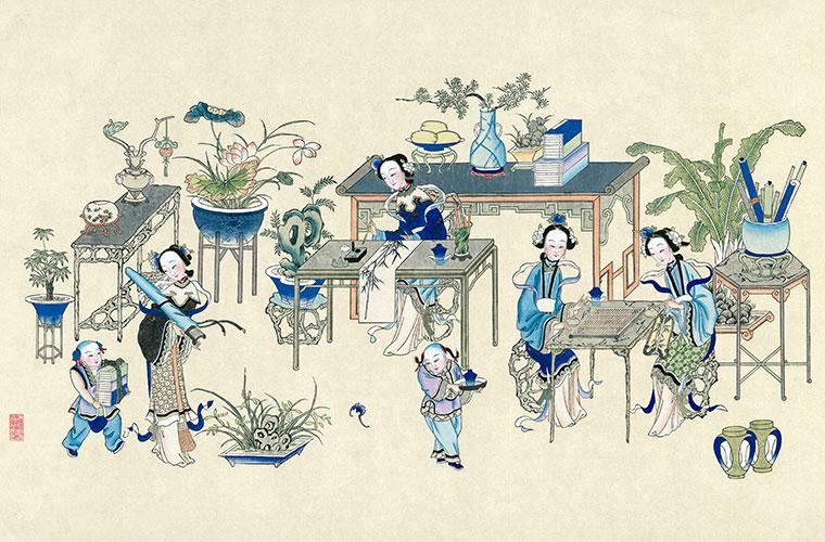 杨柳青年画图片与集名诗